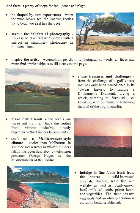 Page 3 of the Flinders Island eco opportunity