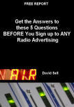 Cover of the free radio advertising report